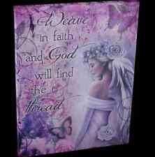 Spiritual & Mystical Wall Canvas By Jessica Galbreth 'Weave in Faith &  God....'