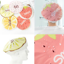 Elastic Bathing Fruit Pattern Shower Caps Hat Waterproof Bathroom Hair Care NEW