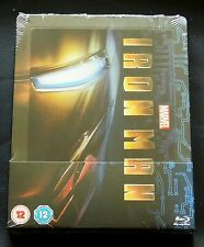 MARVEL'S IRON-MAN - UK ZAVVI BLU-RAY LENTICULAR EDITION STEELBOOK * NEW !