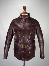 Barbour X Triumph Horween Leather Motorcycle jacket, Sz M, New With Tags