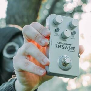Coolmusic C-DI01 Insane Distortion Pedal Guitar Pedal Effects Bass Pedal