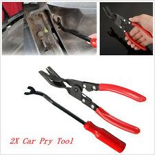 2X Car Door Upholstery Trim Clip Removal Plier Tool Combo Dash Panel Pry Bar Kit