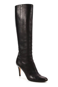 Jimmy Choo Womens Leather Knee High Heel Boots Brown Size 39