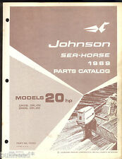 1969 JOHNSON 20HP OUTBOARD MOTOR PARTS MANUAL / 383868