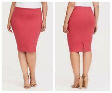 Torrid Coral Ponte Pencil Skirt 1X 14 16 #89701