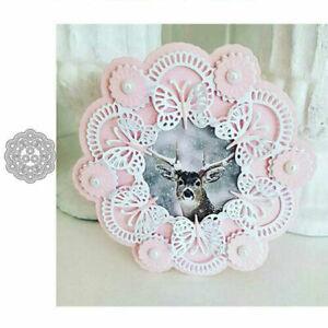 Butterfly Flower Wreath Metal Cutting Dies Stencil Scrapbooking Paper Card Craft
