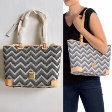 Dooney & Bourke Chevron Small Leisure SHOPPER Tote Bag Black Multi