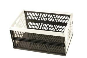 Klappbox Faltbox 45 Liter belastbar bis 34kg silber und weiß