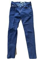 "Hollister Skinny Low Rise Jeans Size 5S 27x 29"" Blue Dark Wash Stretch"