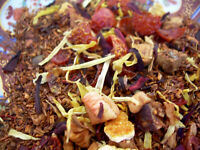 Tea South African Red Rooibos Mist Lemon Rose Hips Hibiscus and Strawberry Blend