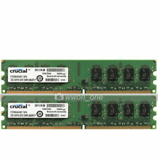 Crucial 4GB 2x2GB PC2-5300 DDR2 667MHz 240Pin UDIMM Intel Low  Desktop Memory