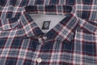 NWOT Eleventy First Class Size Large Made in Italy Dress Casual Shirt Blue Red