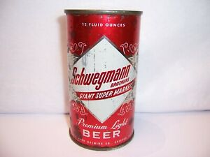 1950's Schwegmann  Flat Top Beer Can Brewed in Chicago, IL at Gold Brau Brewery