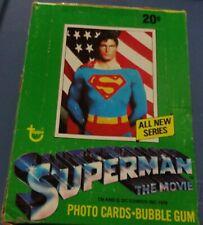 1978 TOPPS SUPERMAN FULL BOX Non Sports Movie Trading CARDS 36 PACKS!