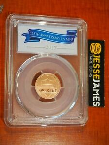 2017 S ENHANCED LINCOLN CENT PCGS SP69 RD FIRST DAY ISSUE FDI 225TH ANNIVERSARY