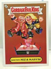 """""""Mouthy MIZ & Maryse"""" & Monroe 2019 Topps WWE x GPK Garbage Pail Kids Sticker #6"""