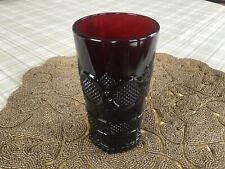 Avon 1876 Cape Cod Collection Ruby Red Glass Tumbler