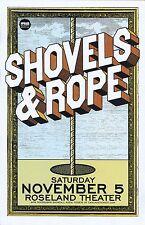 SHOVELS AND ROPE 2016 Gig POSTER Portland Oregon Concert