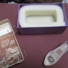 Just The Right Shoe Jeweled Jewelled Heel Pump Jtrs 25011 Retired by Raine