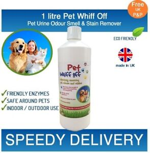 Pet Whiff Off Dog & Cat Urine & Odour Remover 1 litre - Artificial Grass Cleaner