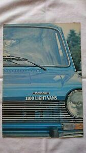 DODGE (Chrysler) 1100 High-Top Van Pick-up Pickup UK Brochure September 1976