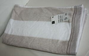 Marks and Spencer Pure Cotton Striped Textured HAND TOWEL X 2