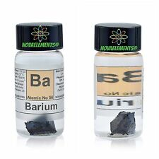 1g 99,6% Barium metal pieces of the element 56 sample Ba in labeled glass vial
