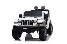 Babycar Jeep Wrangler Rubicon 12V Bianca Auto Per Bambini Con Telecomando