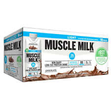 18-pk Chocolate Muscle Milk Light rBST Free Chocolate Shakes 11 fl.oz. Nutrition
