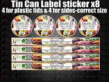 GELATO 33 tin can Labels Sticker Marijuana weed CALI RX Medical Cannabis
