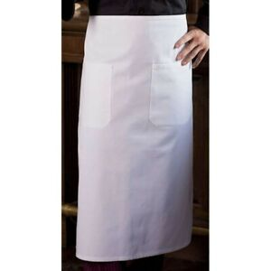 White 2 Pocket Bistro Apron by Uncommon Threads NWT