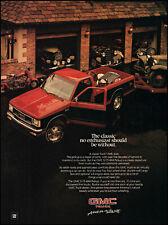 1985 GMC S15 4x4 pickup truck antique car garage vintage photo print ad ads52