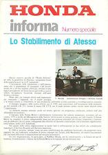 Honda Informa Numero Speciale Stabilimento di Atessa Marzo 1980 Introvabile!