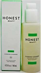 Honest Beauty Clearing Cleanser wSalicylic Acid Acne Treat Wintergreen 4.73oz f4