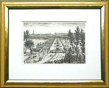 München Brückenbau Reichenbachbrücke Isar, Architektur-Zeichnung Tuschfeder 1920