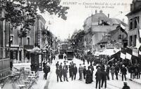 CPA 90 BELFORT CONCOURS MUSICAL DU 15 16 AOUT 1908 LE FAUBOURG DE FRANCE  (GROSS