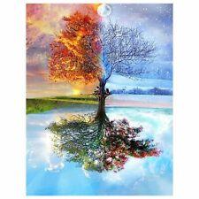 5D Diamond Painting Drill Embroidery Cross Stitch Kits 4 Season Tree Art Decor