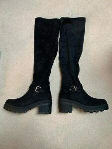 Bugatti Over Knee ladies boots   black   size 5   new