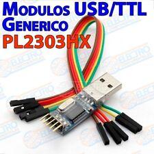 PL2303 Generico Adaptador USB a Serie RS232 TTL PL2303HX con cables - Arduino El