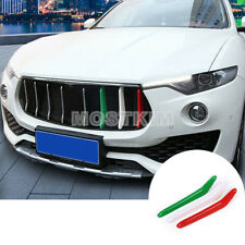 ABS Front Grill Grille Insert Trim Cover 3pcs For Maserati Levante 2016-2020