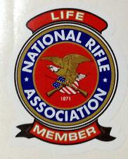 GUN STICKER DECAL   GUN PERMIT NRA  LIFE MEMBER