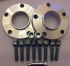 2 X 20mm espaciadores centrados en Hub + 8 Pernos extendida + 2 Sintonizador de ajuste de BMW 72.6 M12X1.5 2