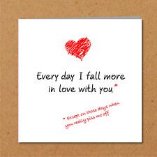 LOVE CARD boyfriend husband girlfriend wife valentines birthday anniversary fun