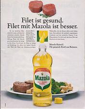 MAZOLA 100% REINES KEIMÖL - PUBLICITE PRESSE  PAPER ADVERT 1988 ALLEMAGNE
