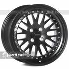 Circuit Performance CP21 16x8 4-100 +25 Flat Black Wheels Rims Classic Mesh Lip