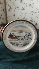 """Lenox """"Currier & Ives The Road,  00004000 Winter, circa 1853""""- 1985 2nd in series plate"""