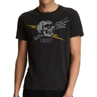 John Varvatos Star USA Men's Short Sleeve Liberty Skull Graphic T-Shirt Black