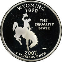 "2007 S PROOF CLAD ""Wyoming"" Statehood Washington Quarter  Cameo ,"