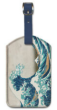 Leatherette Travel Luggage Tag Baggage Label - Great Wave by Hokusai