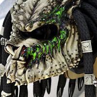 Predator after battle motorcycle helmet. FREE SHIPPING! DOT&ECE certified.